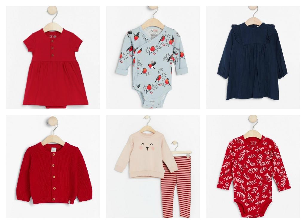 Utvalte klede til baby frå Lindex.
