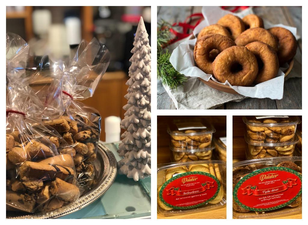 Valaker har mange typer julekaker til sal.