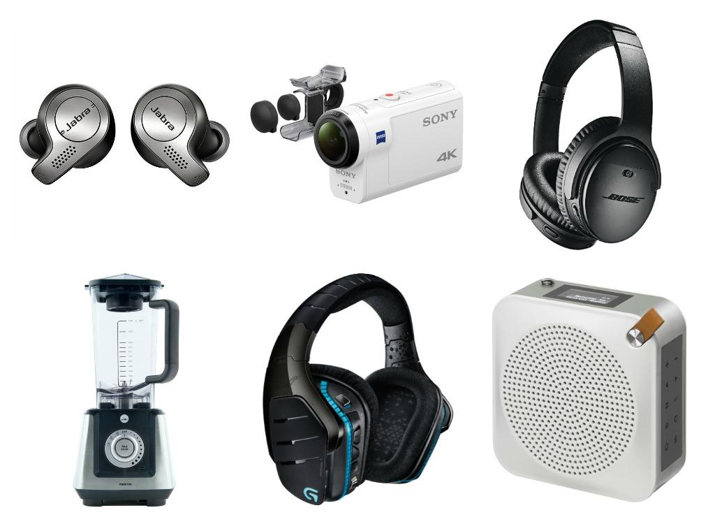 Ørepropper, filmkamera, headset, kjøkkenmaskin, gaming-headset og DAB-radio frå Elkjøp